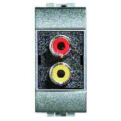 Double-connecteur type RCA Livinglight - Tech - 1 module