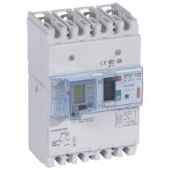 Disj puissance DPX³ 160 - magnéto-thermique diff - 36 kA - 4P - 100 A