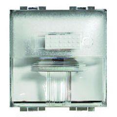 Lampe de signalisation à LED Livinglight - 230 V~ - Blanc - 2 modules