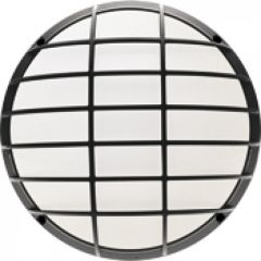 Hublot HP - IP65-IK10 - ON/OFF - Iodure E27 - grille de protection - Anthracite