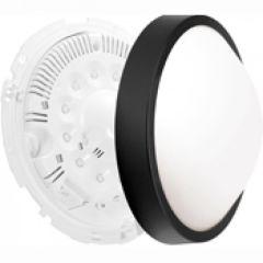Luminaire Oleron déco taille 2 noir 18 leds 6500k détection+préavis+veille