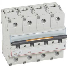Disj DX³-vis/vis-4P-400V~-80A-25kA-courbe D - 6M
