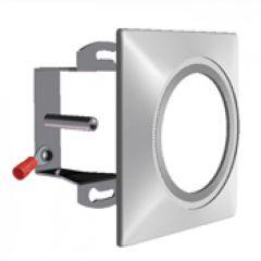 Kit fixation pr boite d'encastrement + bague zamak carrée 78 x 78 mm