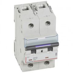Disj magnéto-therm DX³ - 2P - 10 A - 50 kA - courbe D - 3M