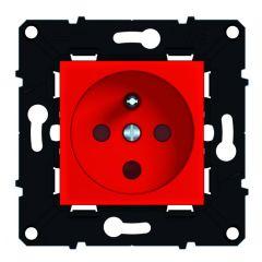 Prise 2P+T 16 A à détrompage bornes à vis - éclips protection -Espace Evo -Rouge