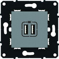 Chargeur double USB 1500 mA - Espace Evolution - Magnésium