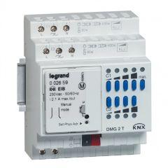Contrôleur modulaire BUS/KNX pour variation charges BT/TBT - 2 sorties - 4 mod