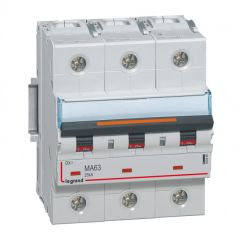 Disj DX³ MA-vis/vis-3P-400V~-63A-25kA-magnétique seul - 4,5M