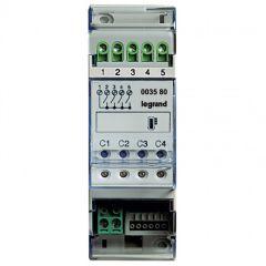 Actionneur 4 relais indépendants gestion de température MyHOME BUS - 2 modules