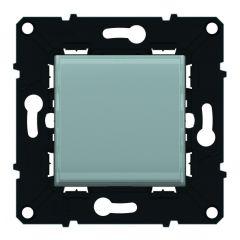 Poussoir lumineux porte-étiquette 6 A-250 V~ Espace Evo -Blanc/Mag+symbole lampe