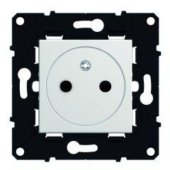 Prise 2P+T Surface bornes auto - éclips de protection - Espace Evolution - Blanc