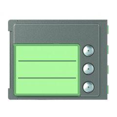 Façade Sfera Robur pour module électronique audio 3 appels
