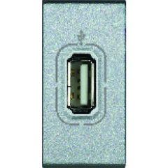 Chargeur USB prise simple Livinglight - 5 V - 230 V - Tech - 1 module