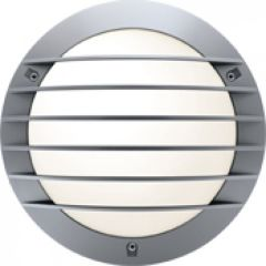 Hublot Chartres rond alu jupe a grille taille 1 gris G24Q2 / 18W