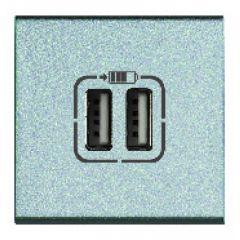 Chargeur USB prise double Livinglight - 5 V - 230 V - Tech - 2 modules