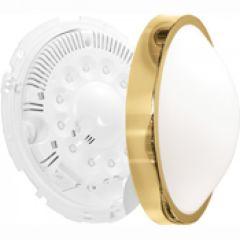Luminaire Oleron déco taille 2 doré 18 leds 6500k détection+préavis+veille