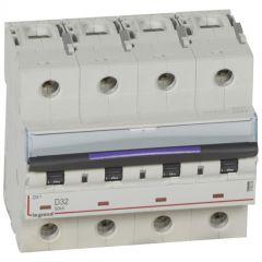 Disj magnéto-therm DX³ - 4P - 32 A - 50 kA - courbe D - 6M