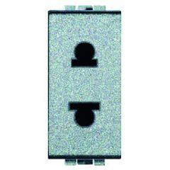 Prise standard euro-US  2P+T Livinglight - 127/250 V - Tech - 1 module