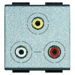 Connecteur 3 x RCA Livinglight - Tech - 2 modules