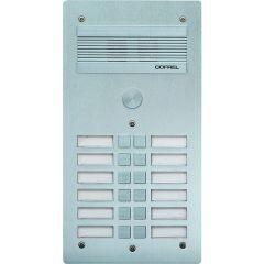 Platine de rue Série 300 audio - façade Alu 4 mm - 12 appels