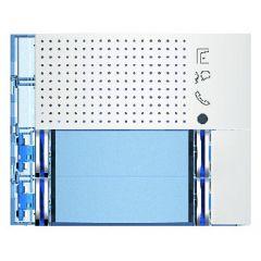 Façade Sfera New pour module électronique audio 4 appels/2 rangées - Allwhite