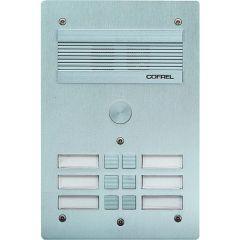 Platine de rue Série 300 audio - façade Alu 4 mm - 6 appels