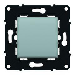 Poussoir lumineux porte-étiquette 6 A - 250 V~ Espace Evolution -Blanc/Magnésium