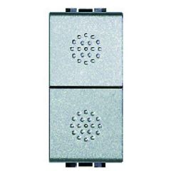 Double-poussoir axial Livinglight - NO-NO 10 A 250 V~ -  Tech - 1 mod.
