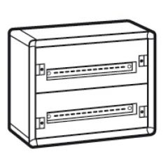 Coffret distribution métal XL³ 160 - tout modulaire - 2 rangées - 450x575x147