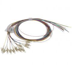 Kit de 12 pigtails OM4 - 50/125 µm - connecteurs LC - 10 Giga
