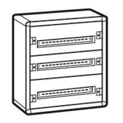 Coffret distribution métal XL³ 160 - tout modulaire - 3 rangées - 600x575x147