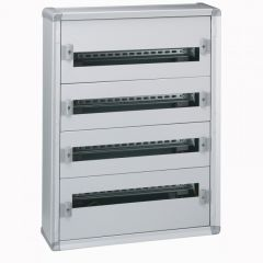Coffret distribution métal XL³ 160 - tout modulaire - 4 rangées - 750x575x147