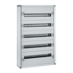Coffret distribution métal XL³ 160 - tout modulaire - 5 rangées - 900x575x147