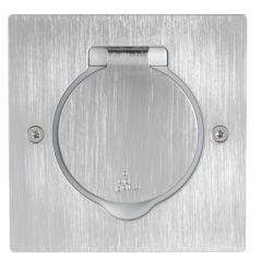 Platinum - Platine rectangulaire simple poste à équiper - IP44/IK08 -inox brossé