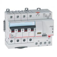 Disj diff DX³ 6000 -vis/auto-4P-400V~-40A-typeAC-30mA-10kA-courbe C - 7M