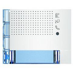 Façade Sfera New pour module électronique audio 2 appels/2 rangées - Allwhite