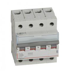 Inter-sectionneur de tête DX³-IS - vis/vis - 4P - 400 V~ - 125 A - 4 M