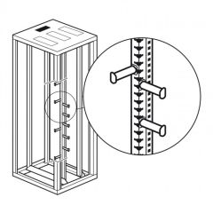 Passe-fil vertical - Data Center LCS² - pour baie 46 U