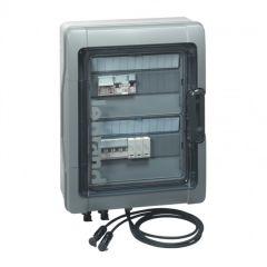Coffret photovoltaïque - IP65 - pré-câblé 3kWc DC + AC pour 1 ou 2 chaînes