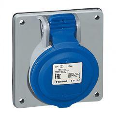 Prise à entraxes unifiés P17 - 200/250 V~ - 16 A - 2P+T - IP 44
