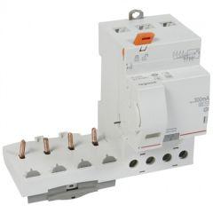 Bloc diff adapt DX³-vis-4P-400V~-63A-typeAC-300mA sélec-disj 1mod/pôle-câbl trad