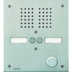 Platine de rue Série 100 audio - façade Inox 2,5 mm - 2 appels