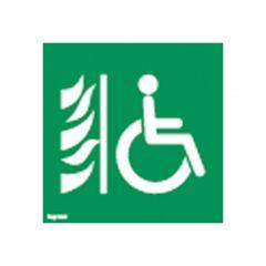 Etiquette ECO de signalisation amovible et recyclable - espace attente sécurisé