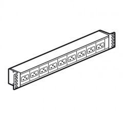 Bloc d'alimentation (PDU) 19'' LCS² - 230 V~ - 9 x C19 IEC 60320