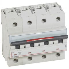 Disj magnéto-therm DX³ - 4P - 50 A - 36 kA - courbe C - 6M