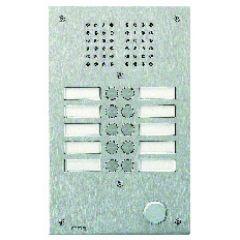 Platine de rue Série 100 audio - façade Inox 2,5 mm - 10 appels