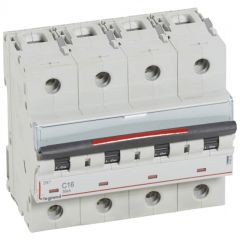 Disj magnéto-therm DX³ - 4P - 16 A - 36 kA - courbe C - 6M