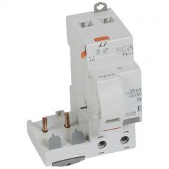 Bloc diff adapt DX³-vis-2P-230/400 V~-63 A-type Hpi-30 mA-disj 1 mod/pôle