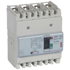 Disj puissance DPX³ 160 - magnéto-thermique - 36 kA - 4P - 160 A