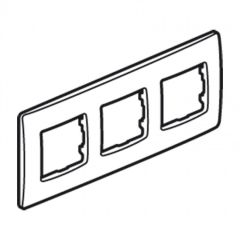 Plaque 3 postes Niloé - Lin